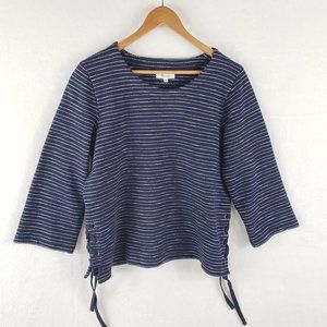 Madewell Stripe Side Lace-Up Top Large
